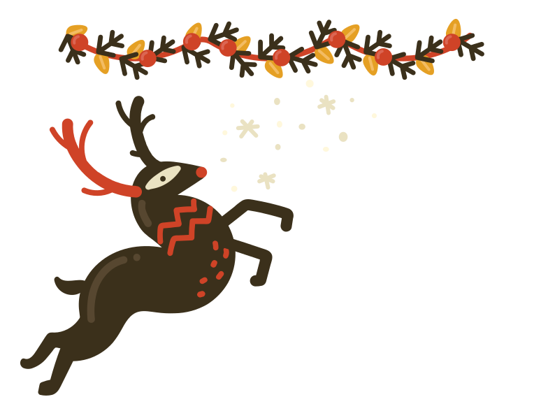 Santa is coming! Clipart illustration in PNG, SVG