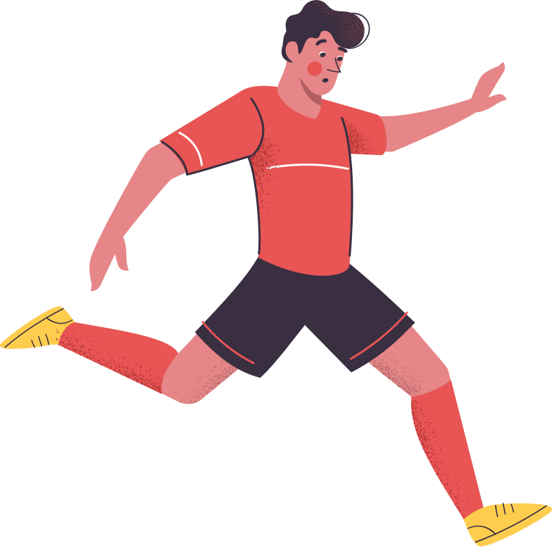 football player Clipart illustration in PNG, SVG