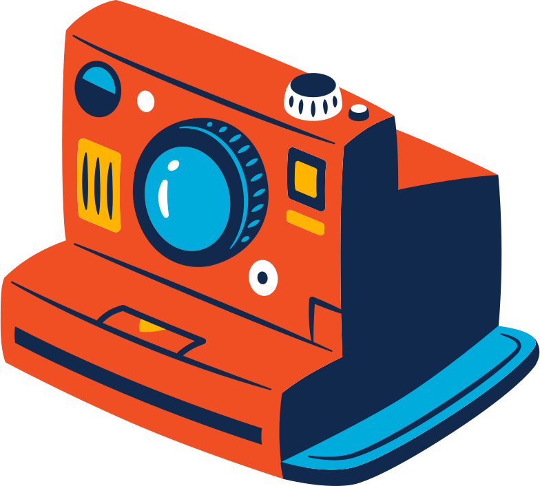 camera polaroid Clipart illustration in PNG, SVG