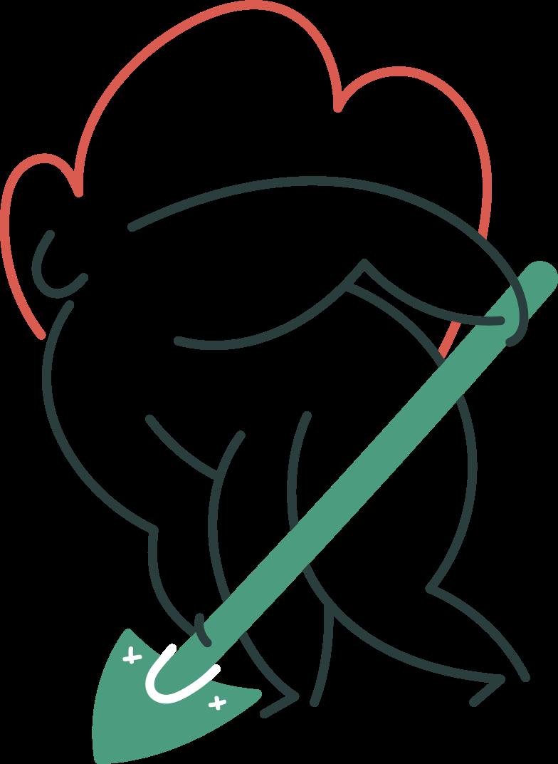 uploading  girl Clipart illustration in PNG, SVG