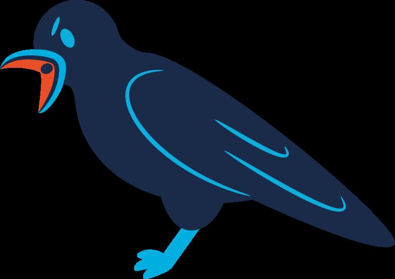 raven screaming Clipart illustration in PNG, SVG