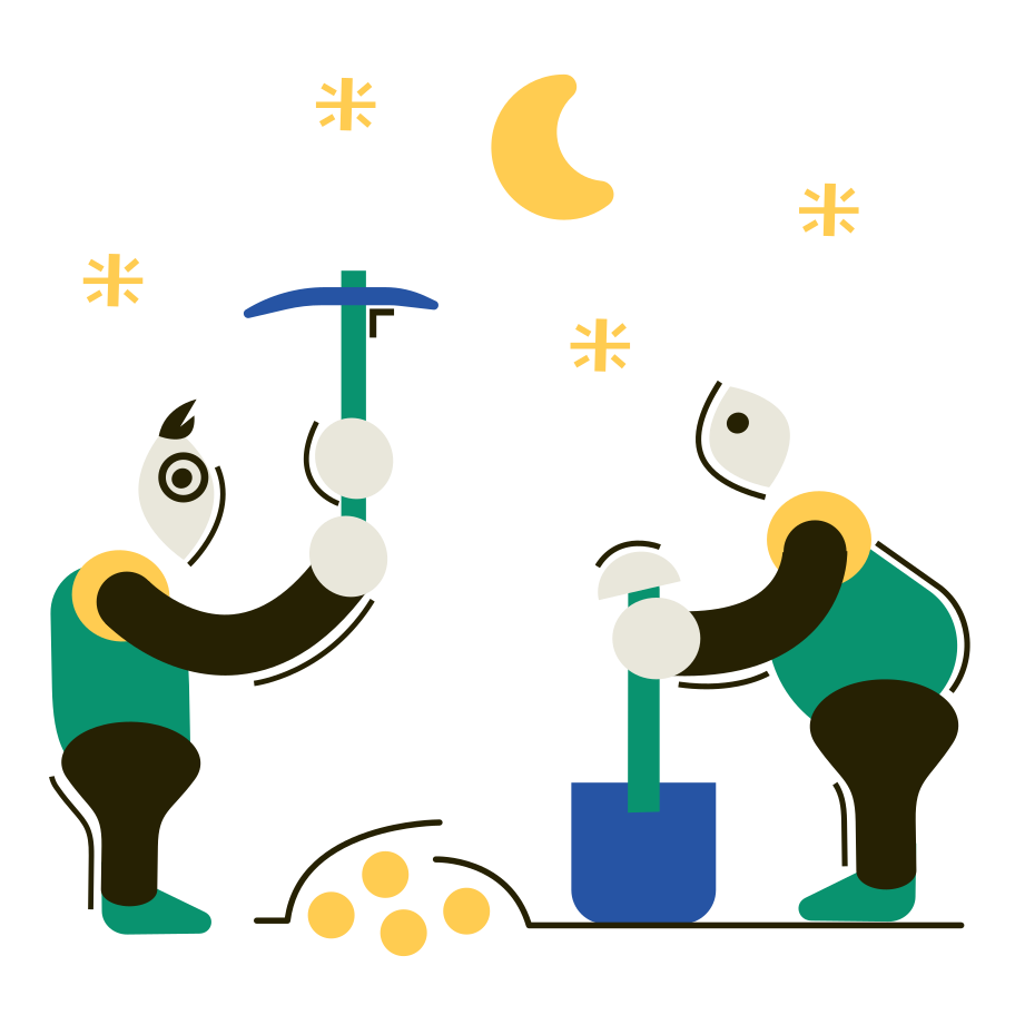Treasure hunters Clipart illustration in PNG, SVG