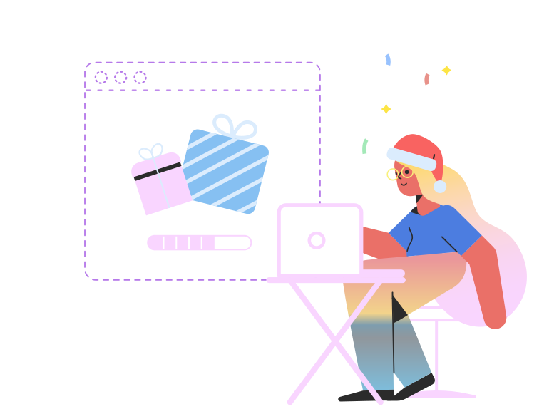 style Christmas shopping online Vector images in PNG and SVG | Icons8 Illustrations