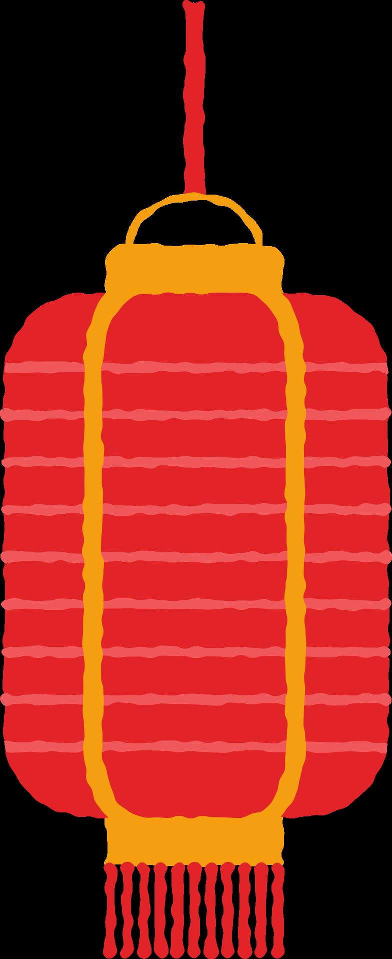 lantern rectangle with fringe Clipart illustration in PNG, SVG