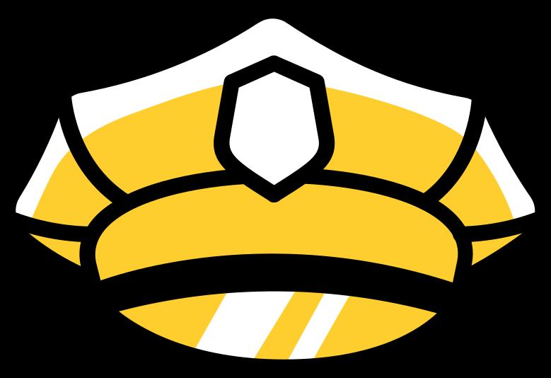 policemans cap Clipart illustration in PNG, SVG