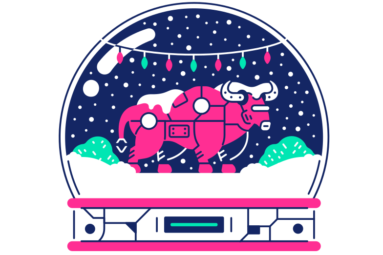 style Bull in Snow Globe Vector images in PNG and SVG | Icons8 Illustrations