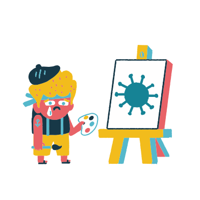 style Sad artist images in PNG and SVG | Icons8 Illustrations