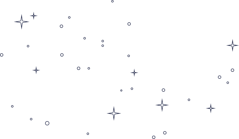 stars and bubbles line Clipart illustration in PNG, SVG