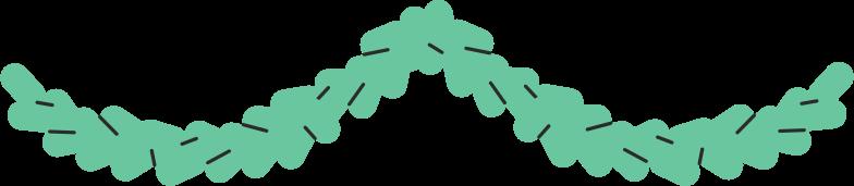 Piniengirlande Clipart-Grafik als PNG, SVG