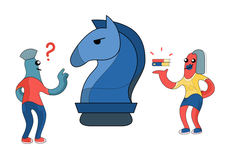 Chess learning Clipart illustration in PNG, SVG
