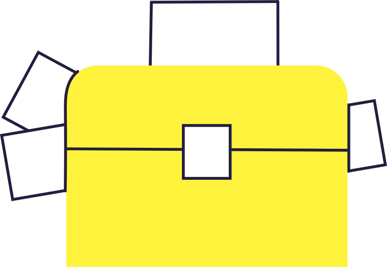 case with papers Clipart illustration in PNG, SVG