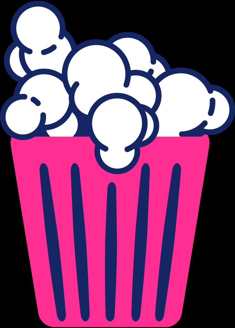 popcorn in box Clipart illustration in PNG, SVG