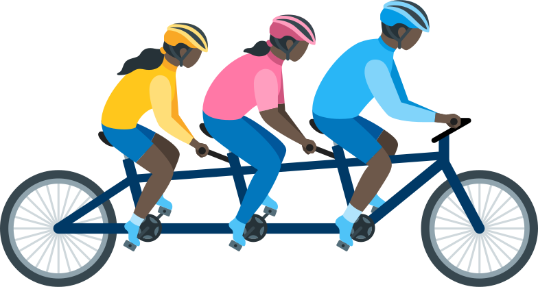 style family on tandem bike Vector images in PNG and SVG | Icons8 Illustrations
