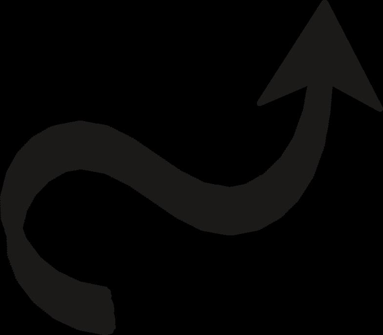 black arrow wave Clipart illustration in PNG, SVG