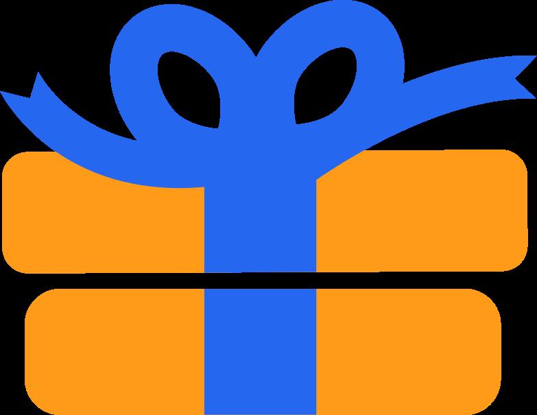 Ilustração de clipart de present em PNG e SVG