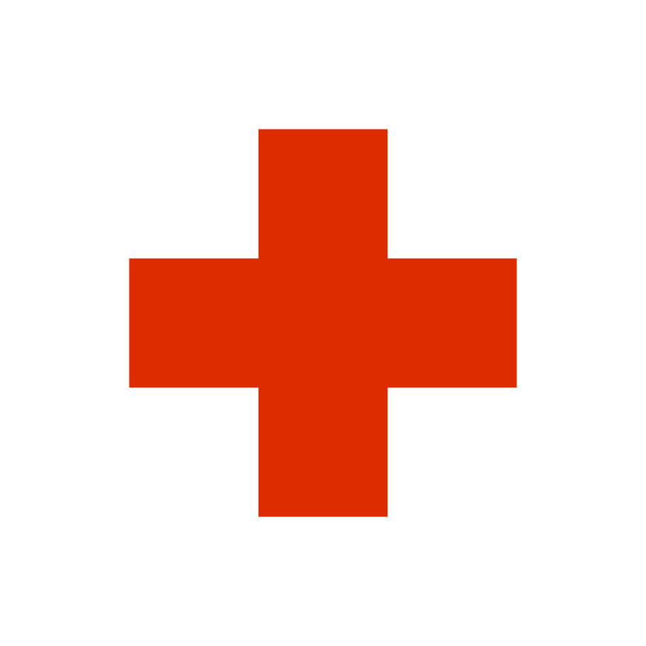 red cross sign Clipart illustration in PNG, SVG