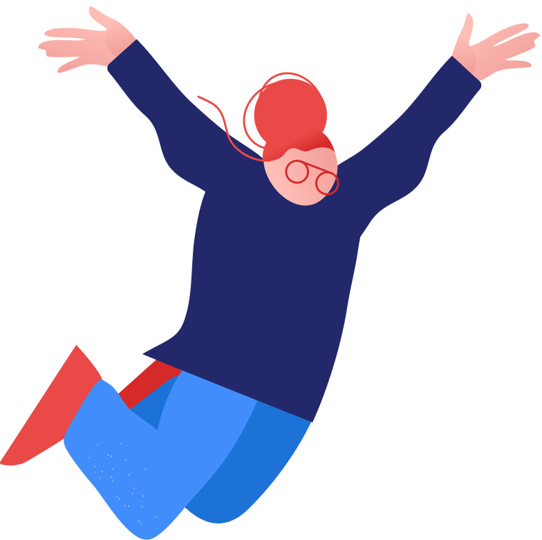 granny jumping Clipart illustration in PNG, SVG