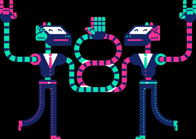 robots Clipart illustration in PNG, SVG