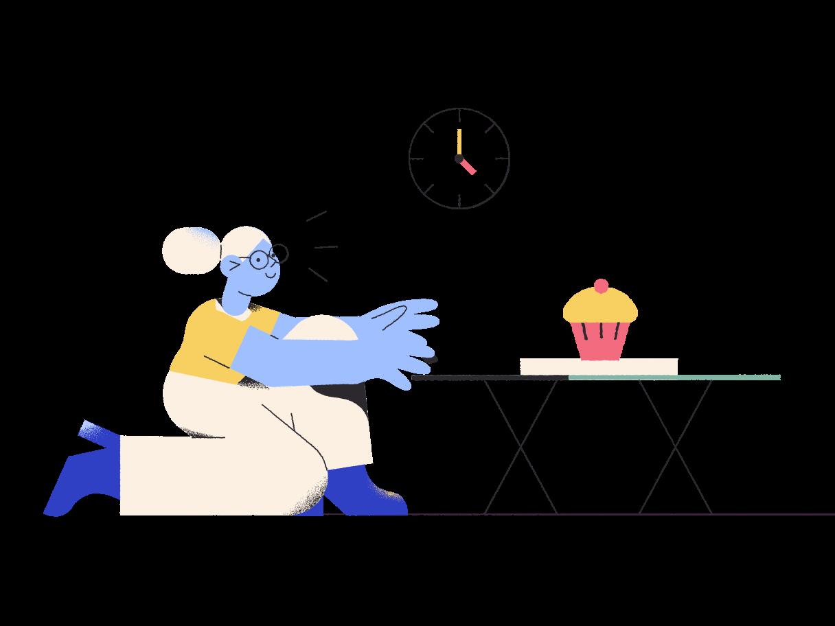 Dessert time Clipart illustration in PNG, SVG