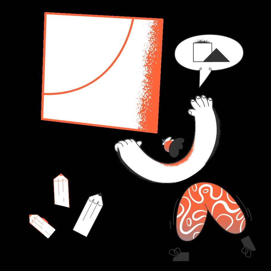Art creation Clipart illustration in PNG, SVG