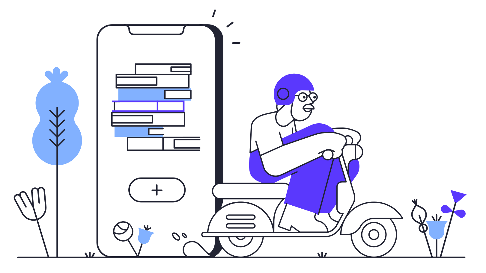 Book app delivery Clipart illustration in PNG, SVG