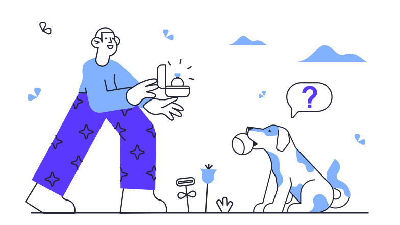 Unexpected Proposal Clipart illustration in PNG, SVG