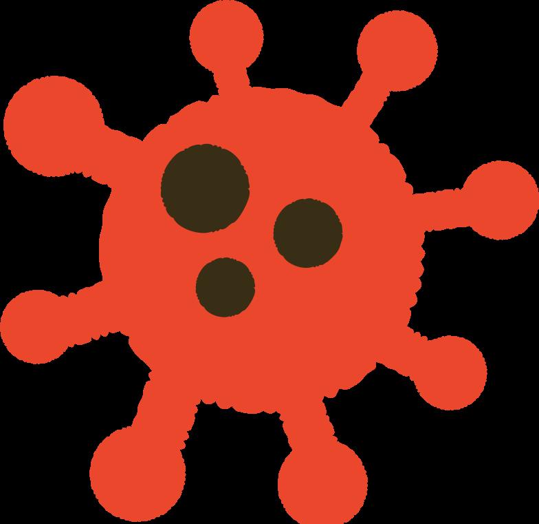 coronavirus molecule Clipart illustration in PNG, SVG