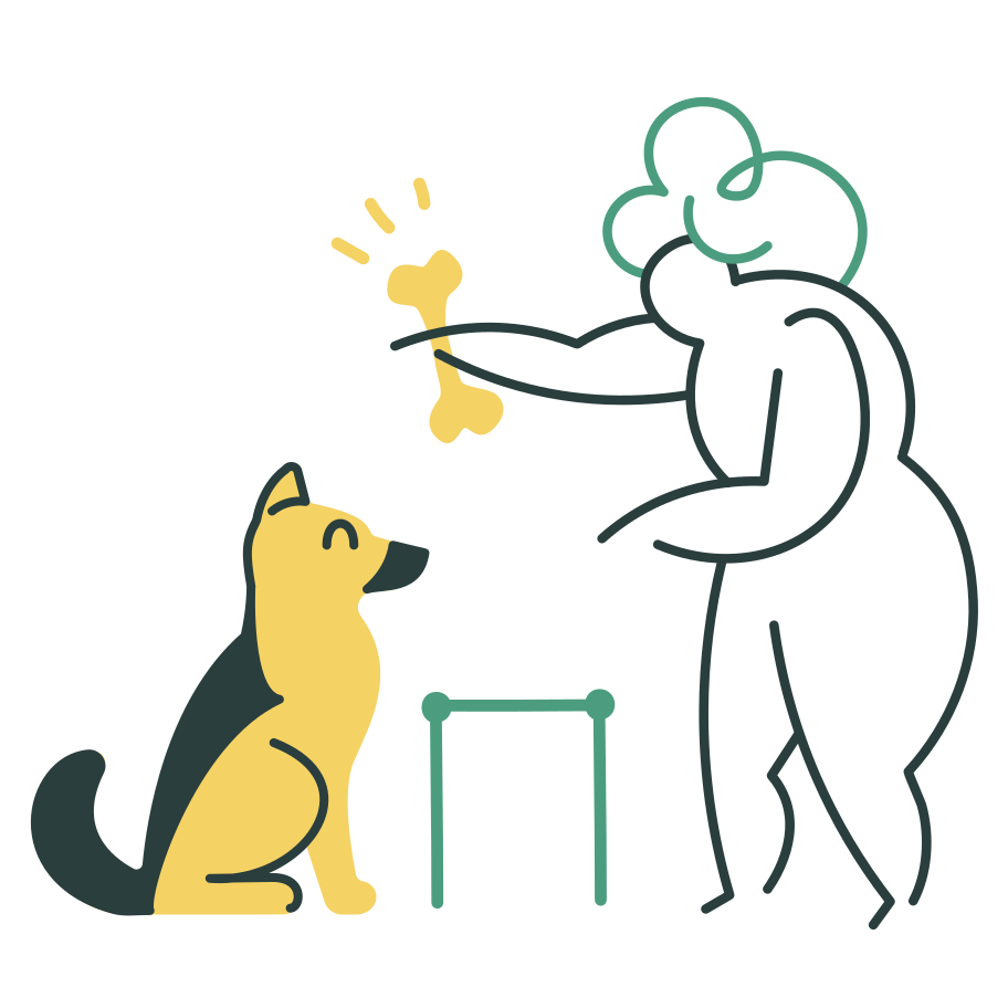 Dog training Clipart illustration in PNG, SVG