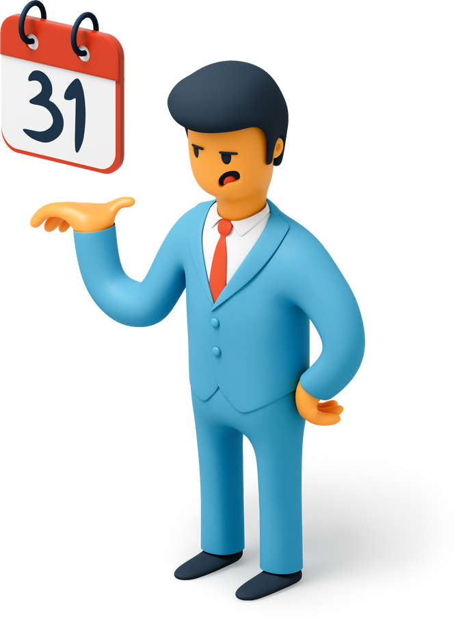 style Businessman with calendar Vector images in PNG and SVG   Icons8 Illustrations