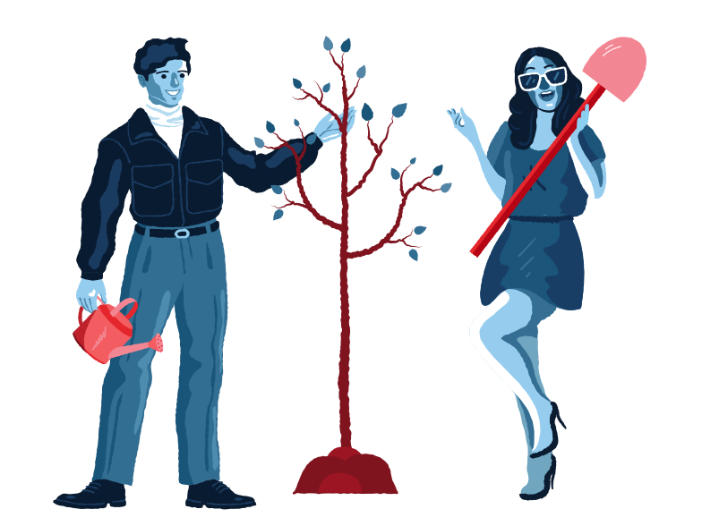 Plant a tree Clipart illustration in PNG, SVG