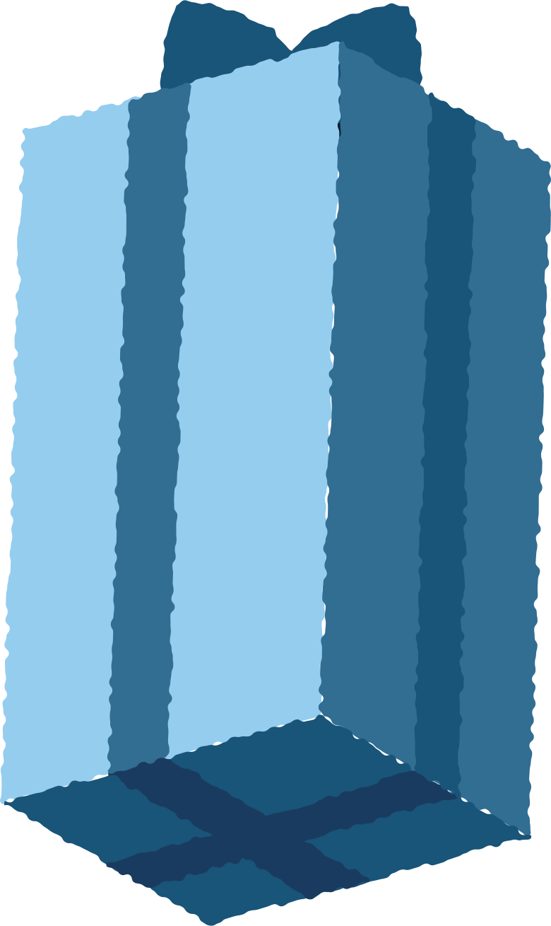 present tall Clipart illustration in PNG, SVG