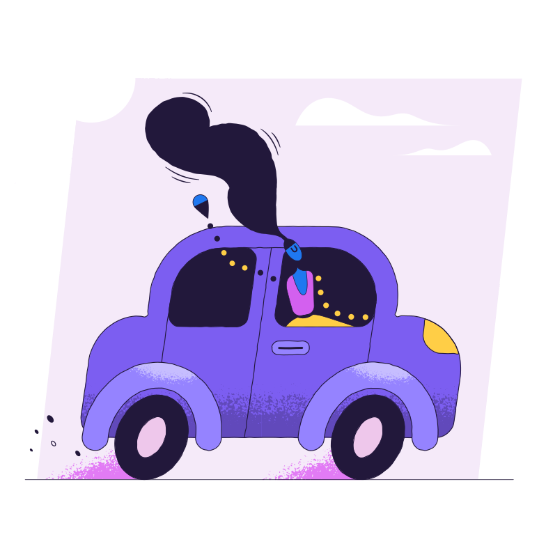 Travelling by car Clipart illustration in PNG, SVG