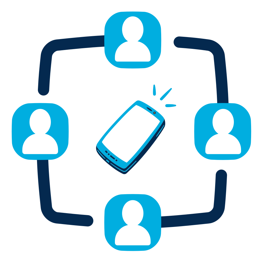 Group call Clipart illustration in PNG, SVG