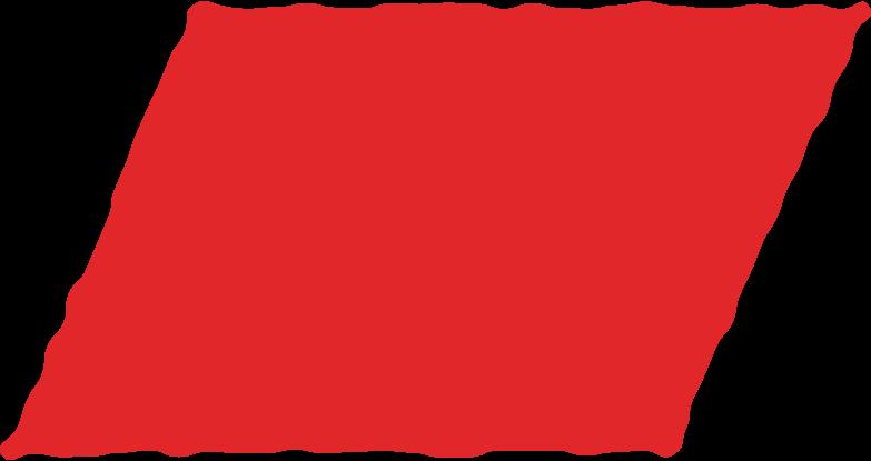Ilustración de clipart de parallelogram red en PNG, SVG