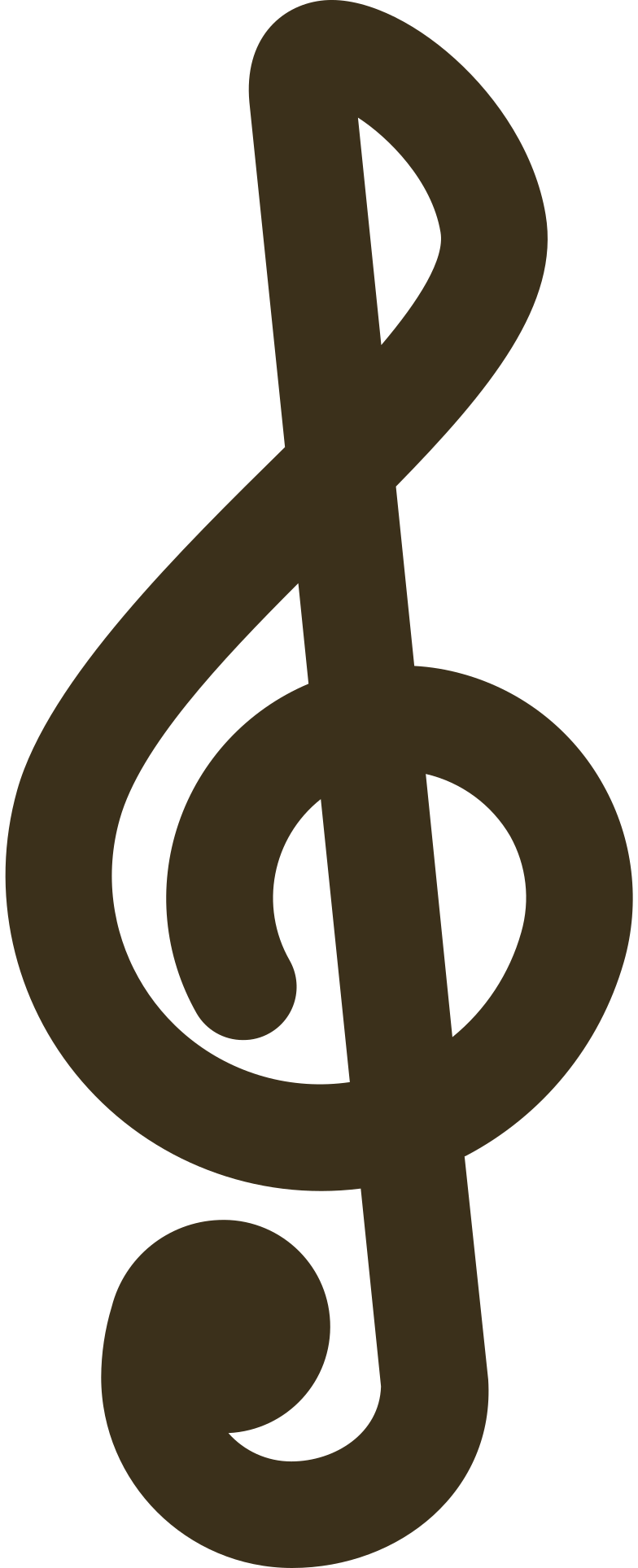 music note clef Clipart illustration in PNG, SVG