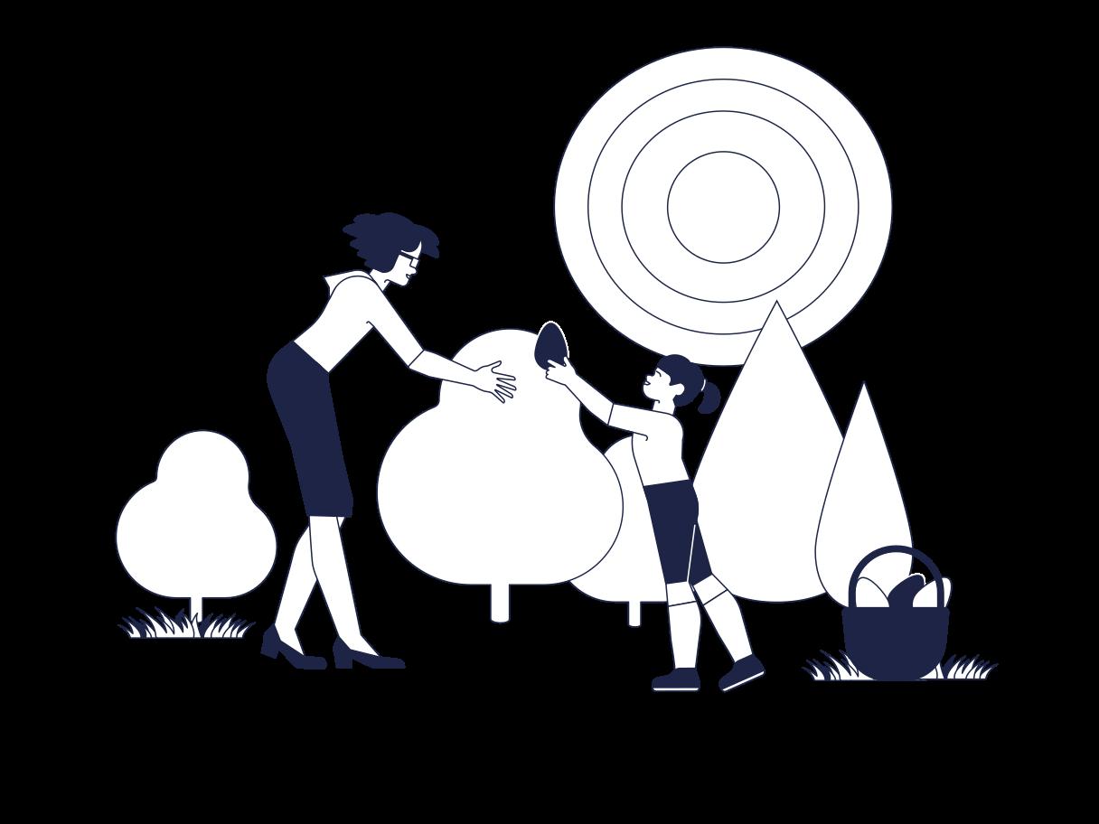 Happy Easter! Clipart illustration in PNG, SVG
