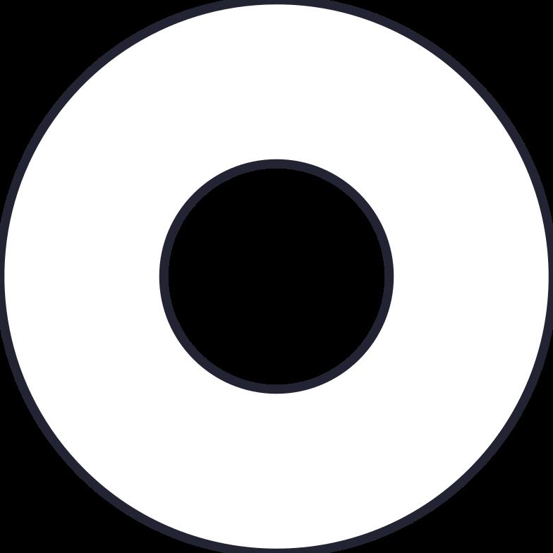 wide donut Clipart illustration in PNG, SVG