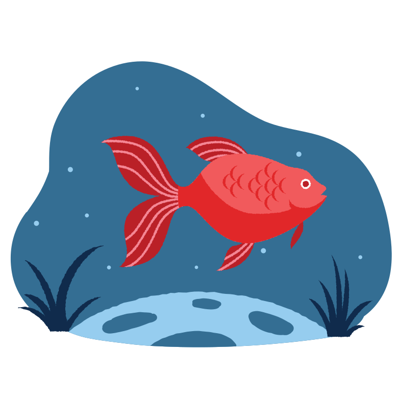 Fish in the water Clipart illustration in PNG, SVG