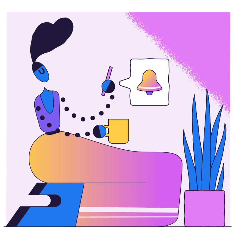 style Subscribe to notifications Vector images in PNG and SVG | Icons8 Illustrations