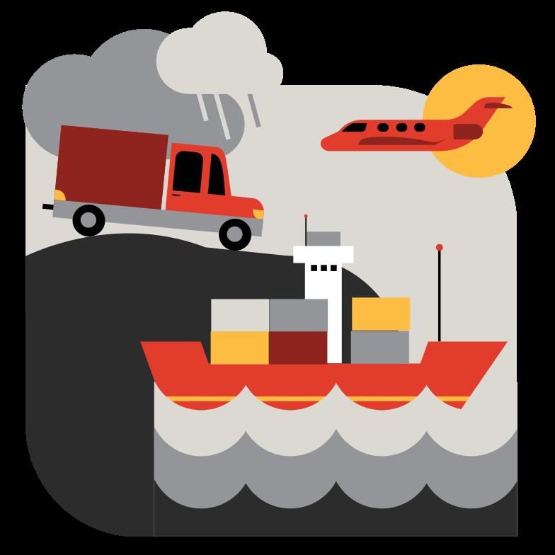 Cargo transportation Clipart illustration in PNG, SVG