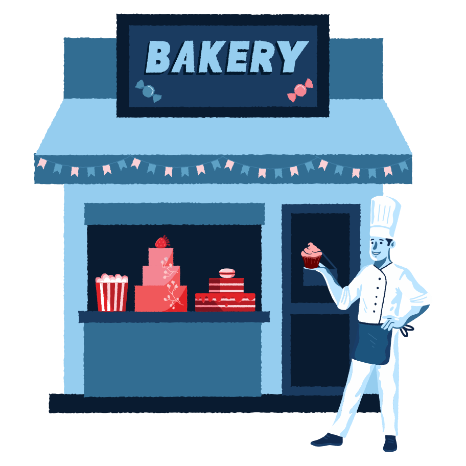 Bakery shop Clipart illustration in PNG, SVG
