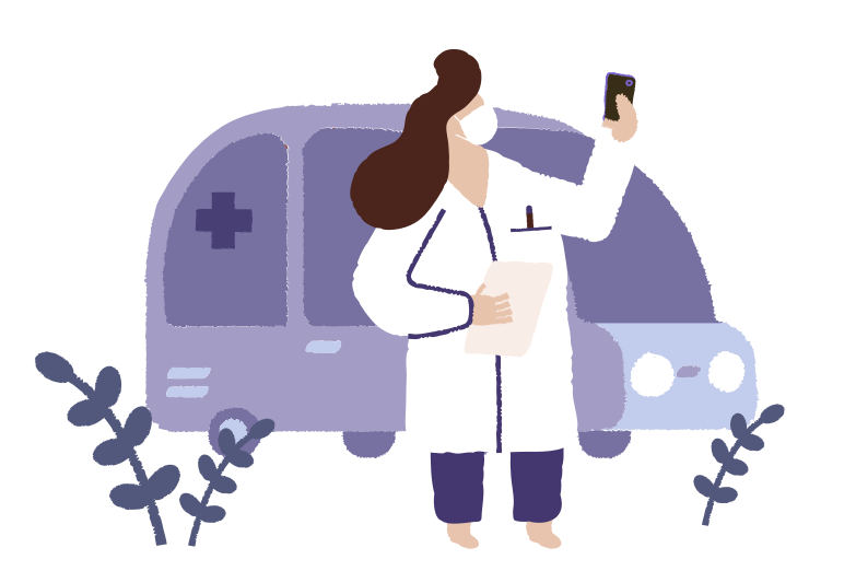 Doctor arrived on call Clipart illustration in PNG, SVG