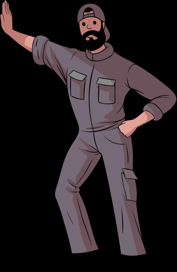 Ilustración de clipart de Obrero en PNG, SVG