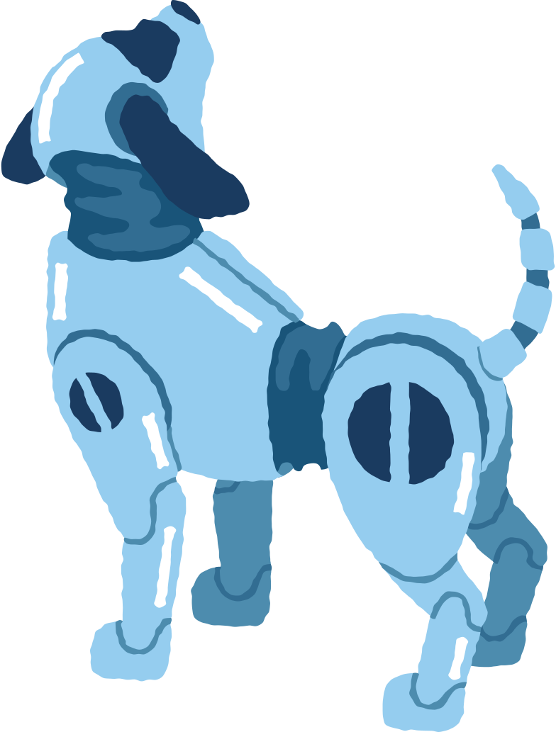 robo-dog Clipart illustration in PNG, SVG
