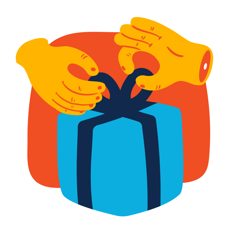 style Unpacking a gift Vector images in PNG and SVG | Icons8 Illustrations