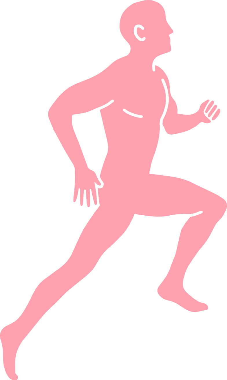 running man Clipart illustration in PNG, SVG