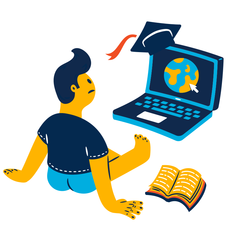 style Looking for online university Vector images in PNG and SVG | Icons8 Illustrations