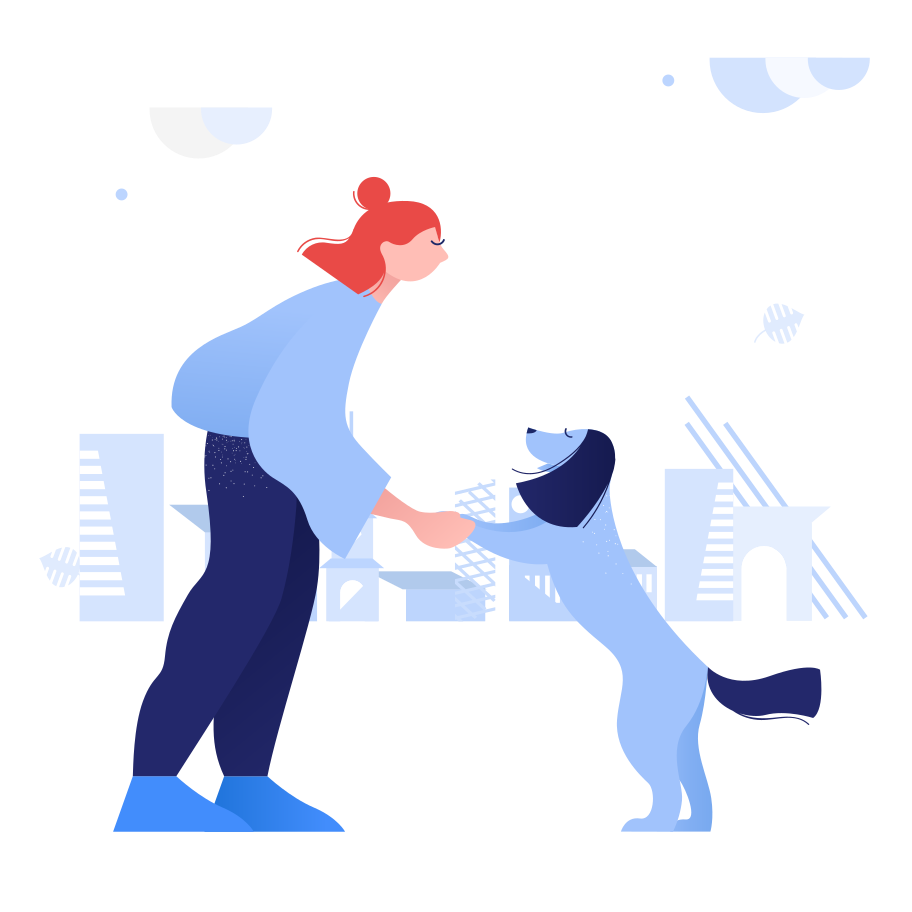 Playing with dog Clipart illustration in PNG, SVG