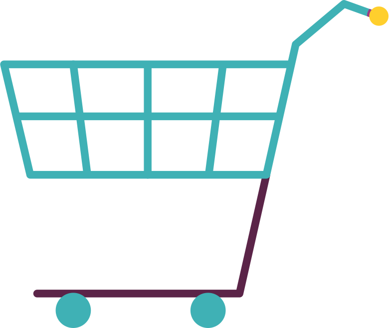 grocery cart Clipart illustration in PNG, SVG