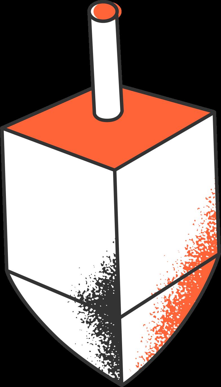 Illustration clipart dreidel aux formats PNG, SVG